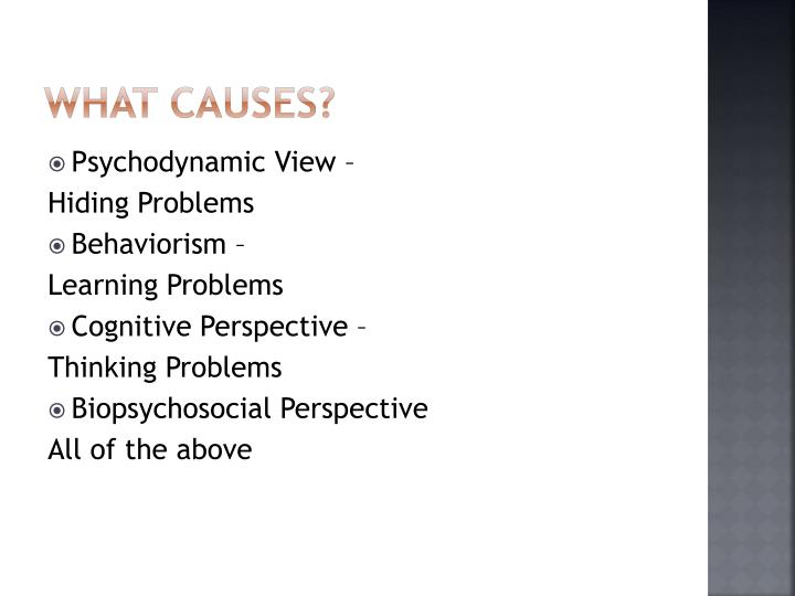 What causes?