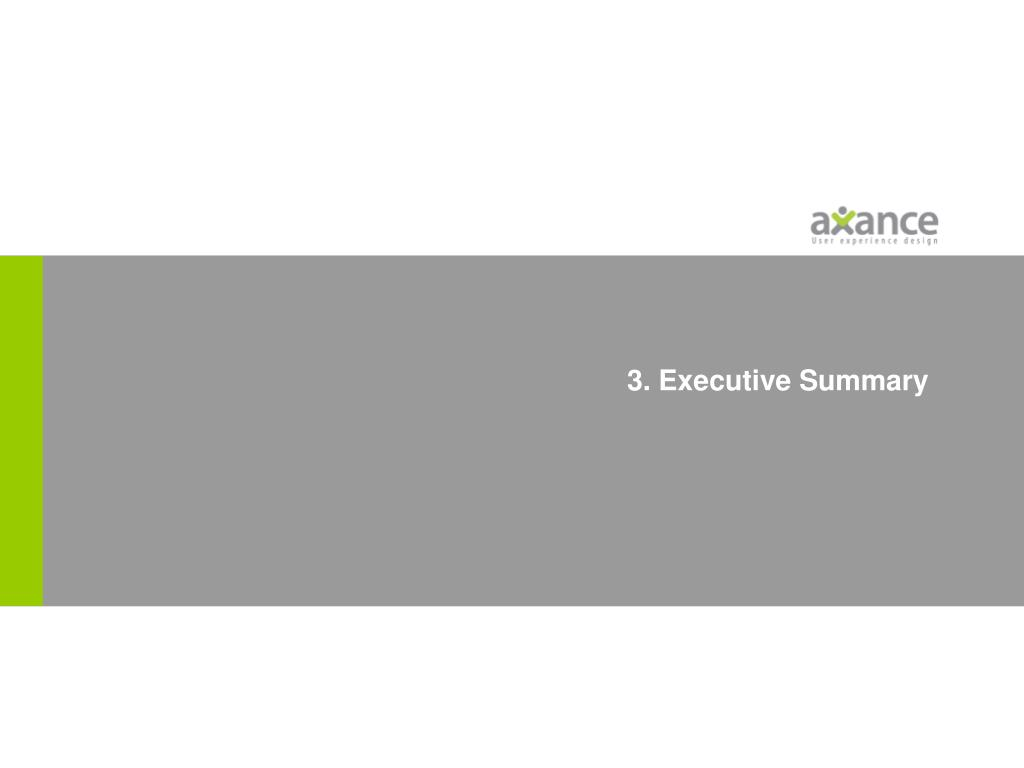 3. Executive Summary