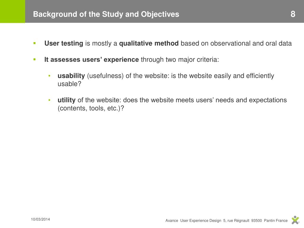 Background of the Study and Objectives