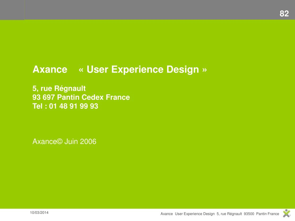 Axance    « User Experience Design »