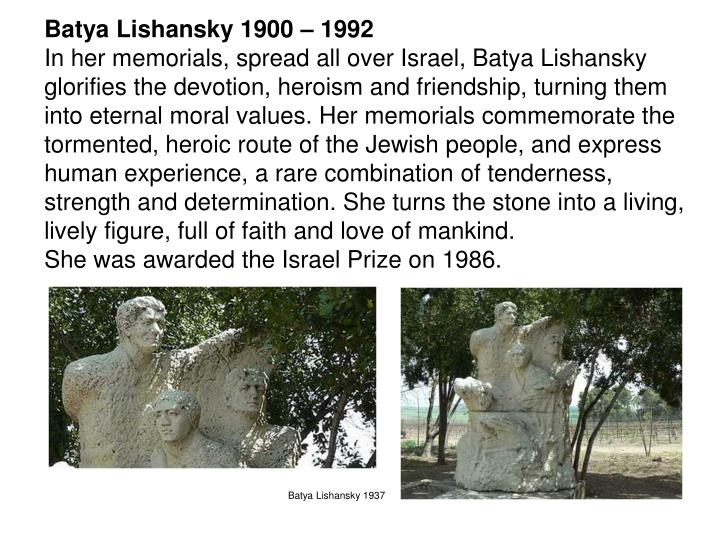 Batya Lishansky 1900 – 1992