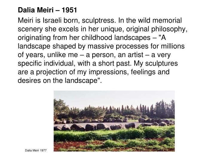 Dalia Meiri – 1951