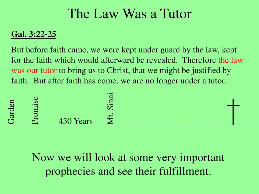 The Law Was a Tutor