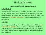 the lord s house24