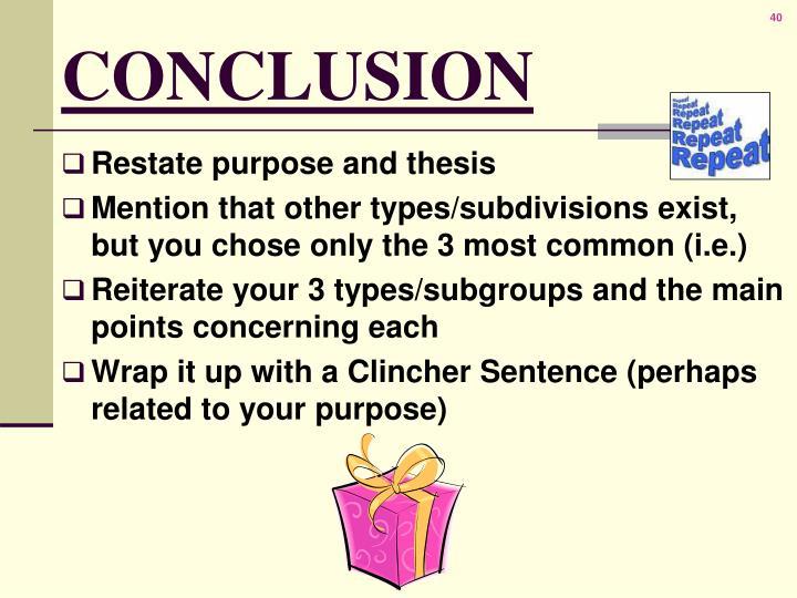 Elements of an illustrative essay