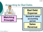 accounting for bad debts1