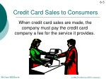credit card sales to consumers1
