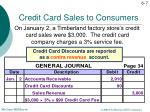 credit card sales to consumers3
