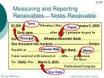 measuring and reporting receivables notes receivable