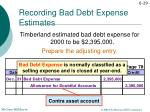 recording bad debt expense estimates1