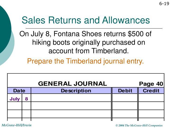 Sales Returns and Allowances