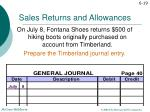 sales returns and allowances1