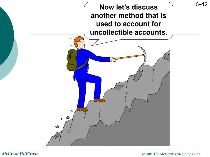 Now let's discuss another method that is used to account for uncollectible accounts.