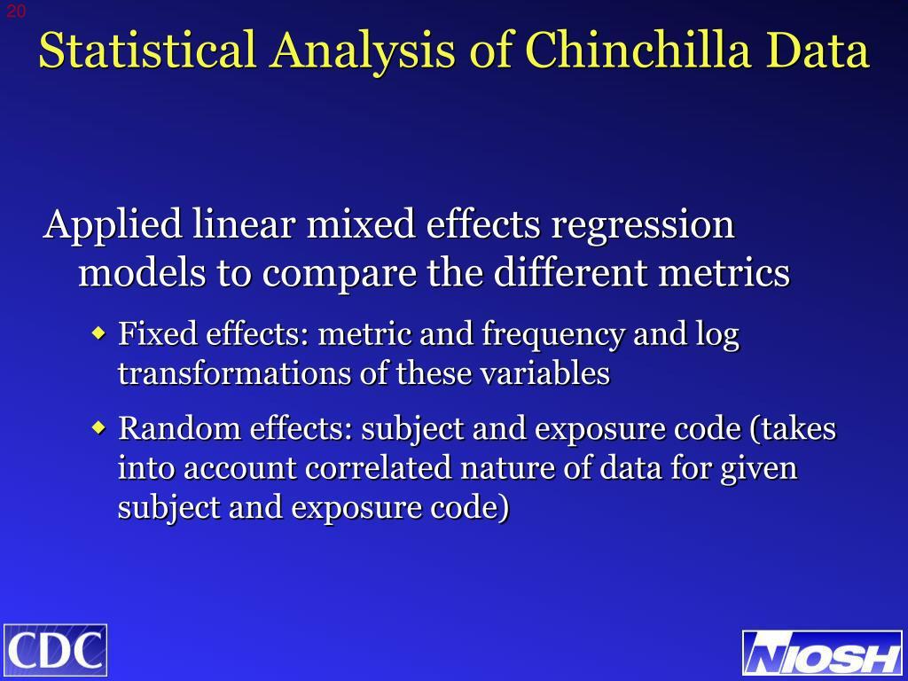 Statistical Analysis of Chinchilla Data