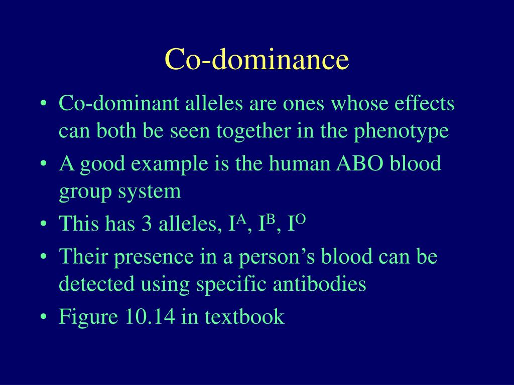 Co-dominance