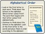 alphabetical order1