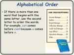 alphabetical order2