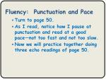 fluency punctuation and pace