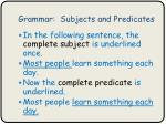 grammar subjects and predicates3