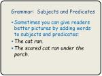 grammar subjects and predicates5
