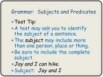 grammar subjects and predicates6