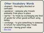 other vocabulary words