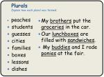plurals explain how each plural was formed