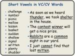 short vowels in vc cv words2