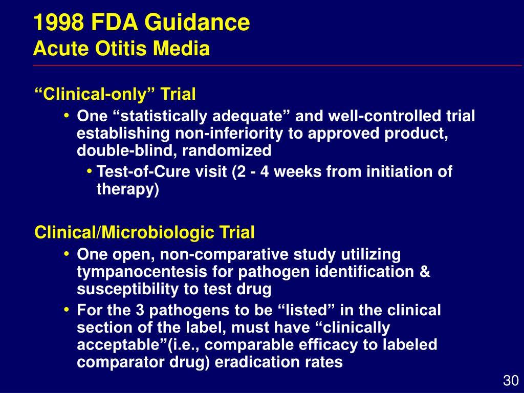 1998 FDA Guidance