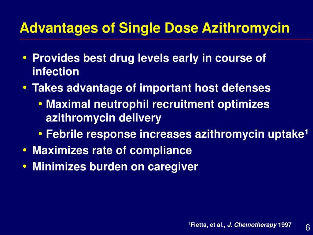 Advantages of Single Dose Azithromycin
