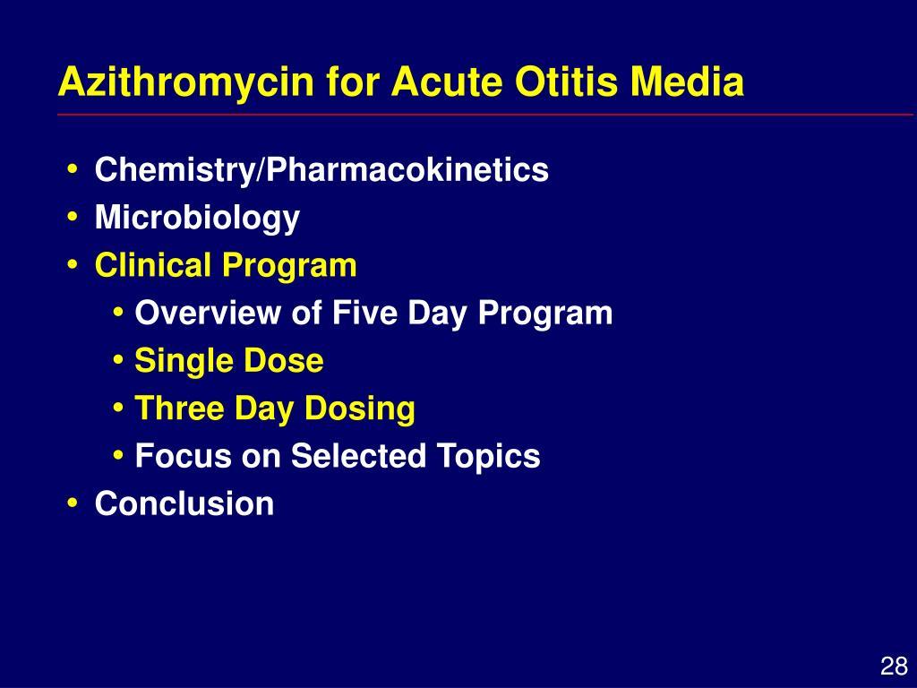 Azithromycin for Acute Otitis Media