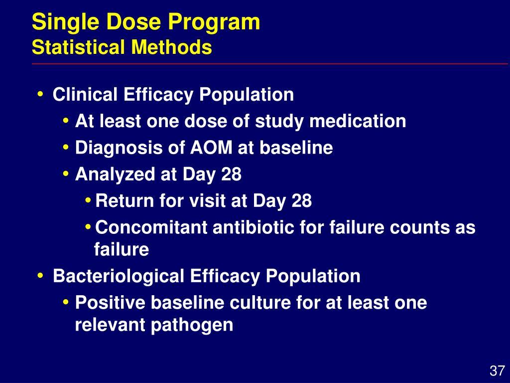 Single Dose Program