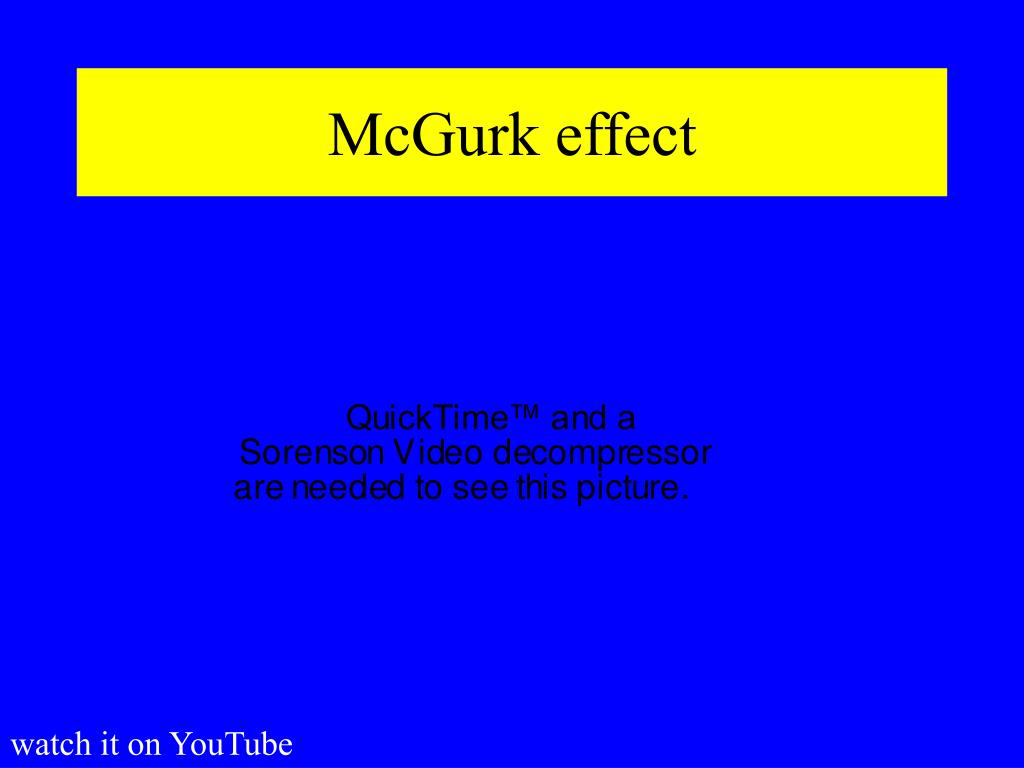 McGurk effect