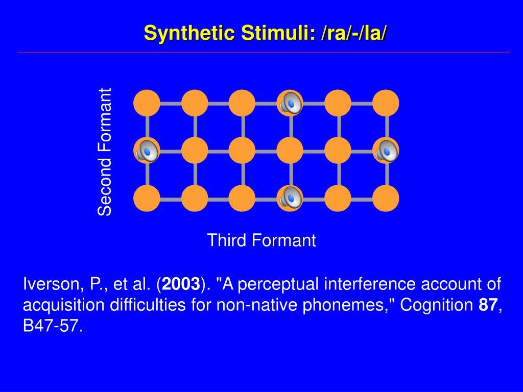 Synthetic Stimuli: /ra/-/la/