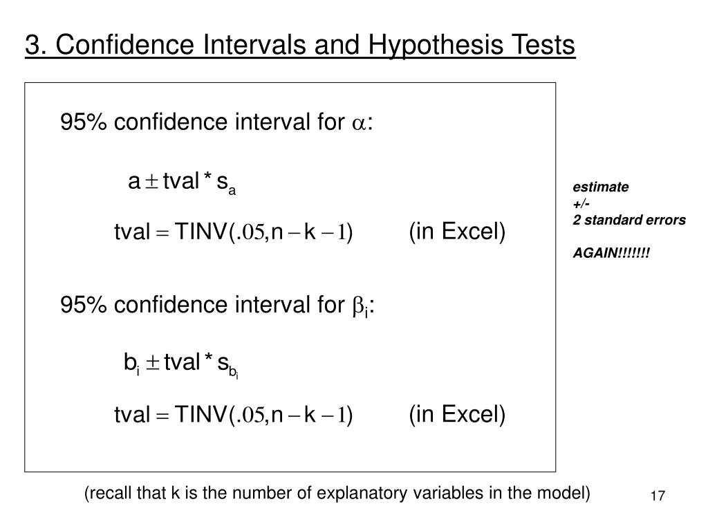 3. Confidence Intervals and Hypothesis Tests