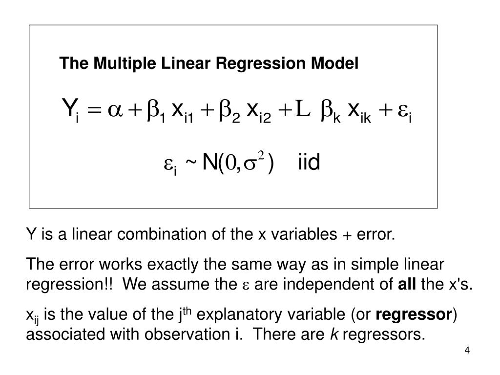 The Multiple Linear Regression Model