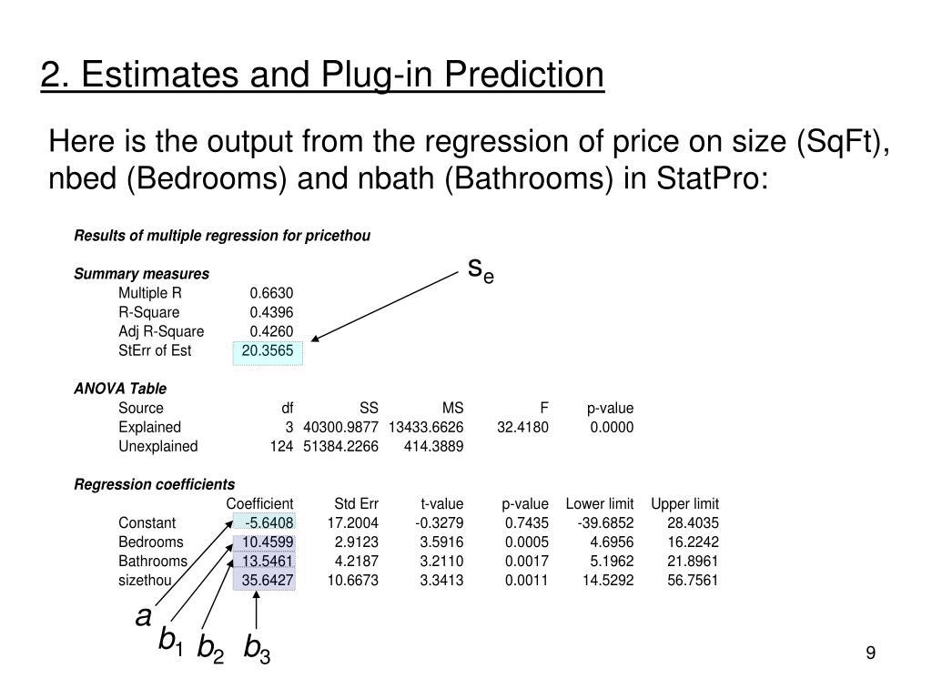 2. Estimates and Plug-in Prediction