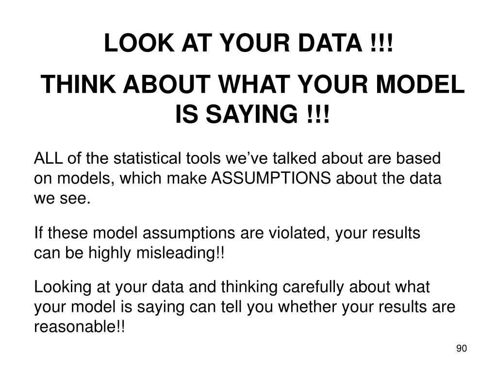 LOOK AT YOUR DATA !!!