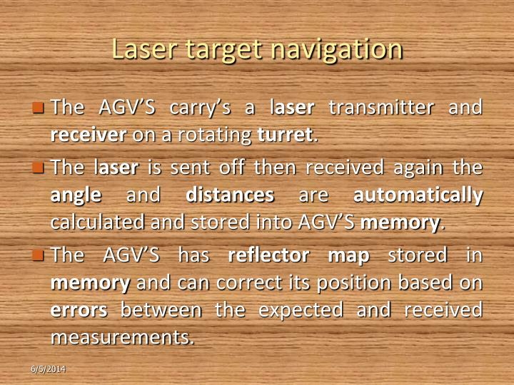 Laser target navigation