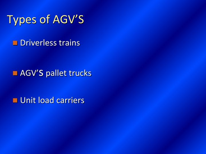 Types of AGV'S