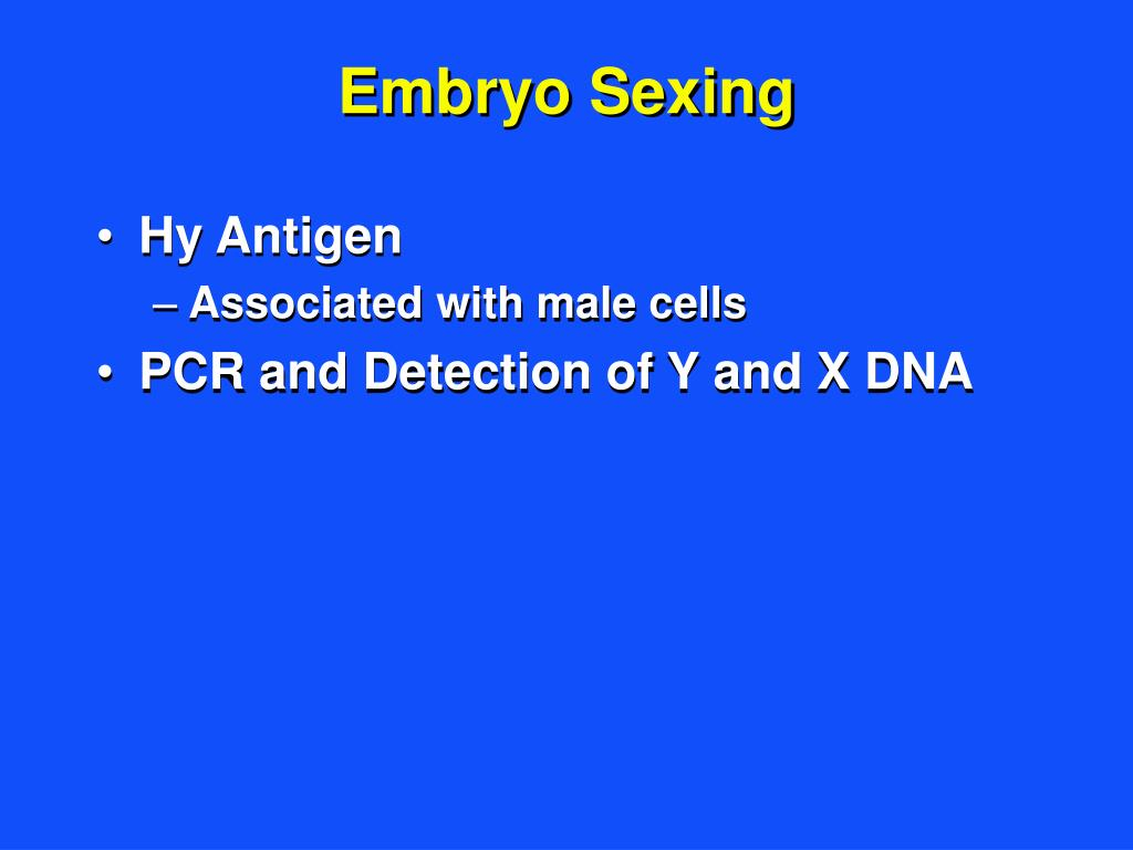 Embryo Sexing