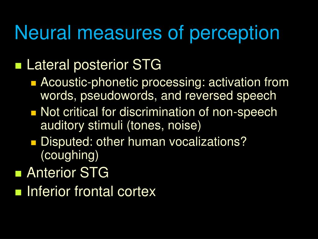 Neural measures of perception