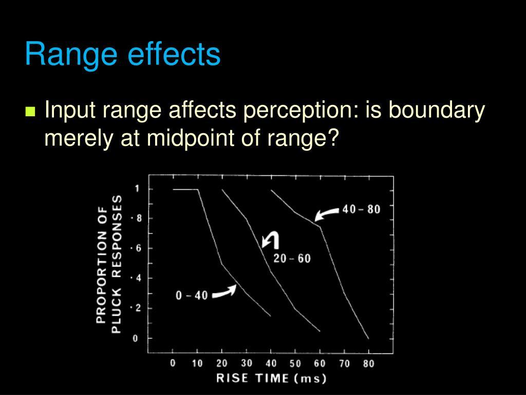 Range effects