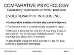 comparative psychology evolutionary explanations of human behaviour15