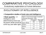 comparative psychology evolutionary explanations of human behaviour16