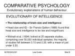 comparative psychology evolutionary explanations of human behaviour20