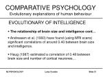 comparative psychology evolutionary explanations of human behaviour21