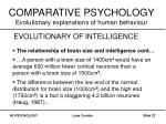 comparative psychology evolutionary explanations of human behaviour22