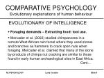 comparative psychology evolutionary explanations of human behaviour4