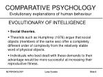 comparative psychology evolutionary explanations of human behaviour6
